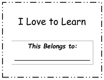 I Love to Learn Pre-K