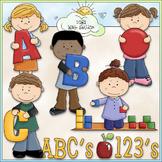I Love to Learn at Preschool Clip Art - School Clip Art - CU Clip Art & B&W