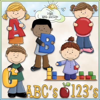 I Love to Learn at Preschool Clip Art - School Clip Art - CU Clip Art & B&W