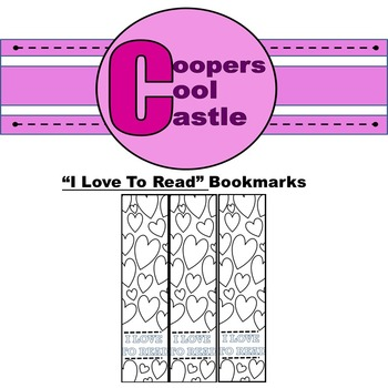 """""""I Love to Read"""" Bookmarks"""