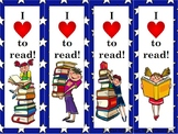 I Love to Read Bookmarks