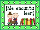 I Love to Read - Me encanta leer - Reading Comp in Spanish