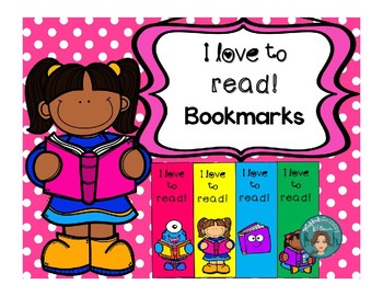 I Love to Read, Printable bookmarks