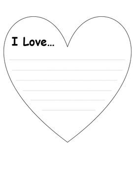 I Love...prompt