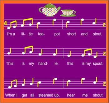 I'M A LITTLE TEAPOT - SmartFile- interactive - titi and ta - rhythm