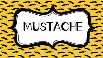 I MUSTACHE You What Is ***American Spelling***