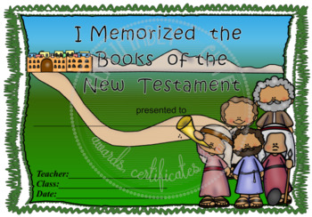 I Memorized the Books of the New Testament - FREE!