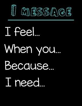 I Message Poster (black background)