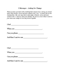 I Message Simple Worksheet