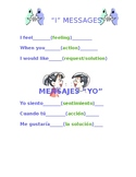 I Messages Poster English/Spanish