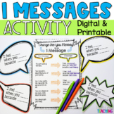 I Messages communication skills activity for Google Classroom Distance Learning