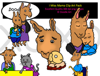 I Miss Mama Clipart Pack