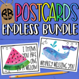 I Miss You Postcards for Distance Learning Classrooms DIGI