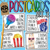 I Miss You Postcards for Distance Learning Classrooms Set 3