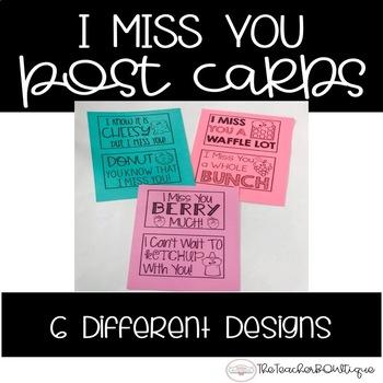 Printable Postcards: I Miss You Theme