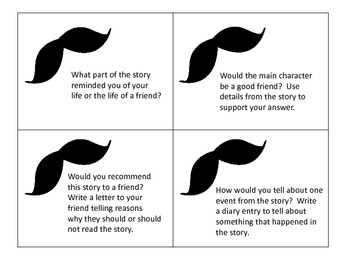 I Moustache You a Question--31 Question Cards to Be Used With Most Stories