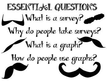 """I Moustache You a Question"" Graphing/Survey Activity Kit"