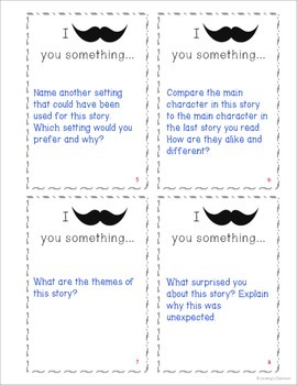 I Mustache (Must Ask) You Something: General Fiction Comprehension Task Cards