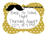 I Mustache That You Attend Postcard