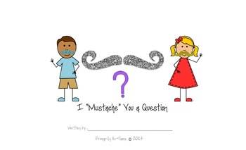 """I """"Mustache"""" You A Question?  Mother/Father's Day Make & Take Book"""