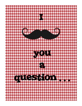 I Mustache You A Question Narrative Writing Prompt Task Cards Centers