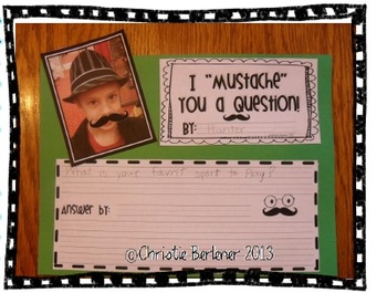 """I """"Mustache"""" You A Question {Writing Activity & More!}"""