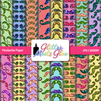 Mustache Paper   Scrapbook Backgrounds for Task Cards & Brag Tags