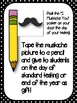 Mustache Test Encouragement Note, End of the Year Gift & Mustache Tags