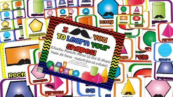 I Mustache You To Learn Your Shapes!  A Shape Poster Set!