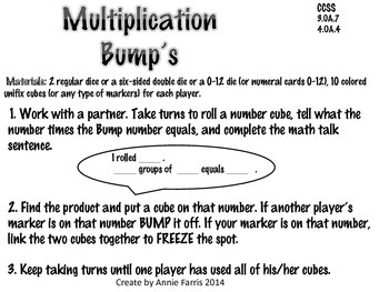 I Mustache You To Move Multiplication Bump Games