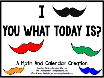 Calendar!  I Mustache You the Date (Mustache Theme)