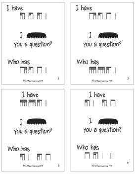 I Mustache You a Question-An I Have/Who has Game with a Twist! ti-tika tika-ti