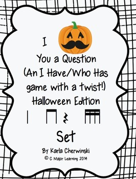 I Mustache You a Question-An I have/who has game-Halloween-ta ti-ti Z tika tika