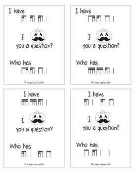 I Mustache You a Question-An I have/who has game-Halloween-ti-tika tika-ti