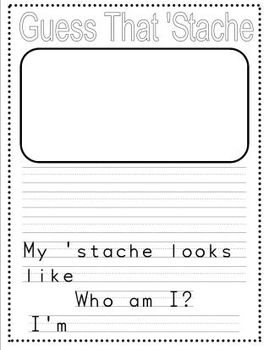 I Mustache You a Question! Getting to Know You Questions and Activities!