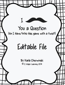 I Mustache You a Question - editable file