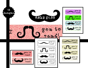 I Mustache You to Bookmark!