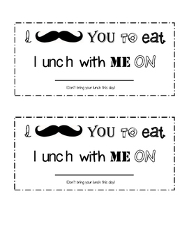 I Mustache You to Eat Lunch with me Pass