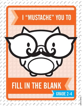"""I """"Mustache"""" You to Fill in the Blank:  Shades of Meaning Task Cards"""