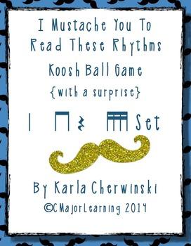 I Mustache You to Read These Rhythms-Koosh Ball Game {with a surprise} tika tika