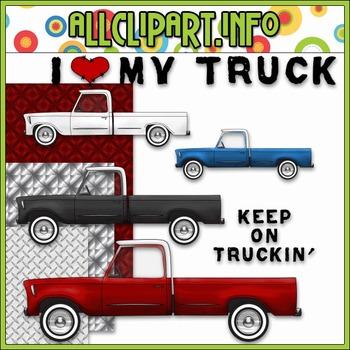 $1.00 BARGAIN BIN - I ♥ My Truck (Grunge) Clip Art