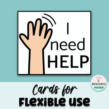 I NEED 'HELP' CARD SET
