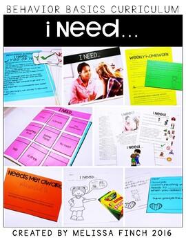 I Need...-  Behavior Basics Program for Special Education