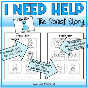 I Need Help- A Social Story for Behavior with Comprehension Activity