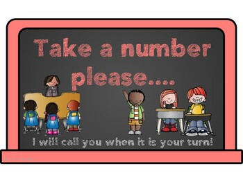 I Need Help Number Cards