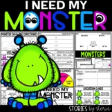 I Need My Monster (Book Questions, Vocabulary, & Directed Drawing)