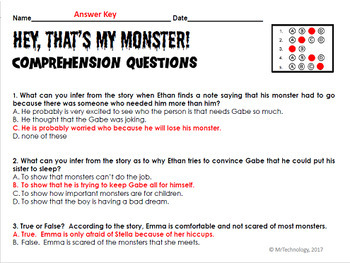 I Need My Monster / Hey, That's My Monster Interactive Reading Activities 2 Pack
