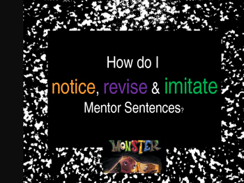 I Need My Monster Interactive Mentor Sentence Teaching Powerpoint