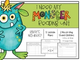 I Need My Monster Reading Unit