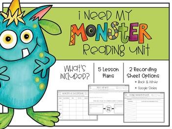 I Need My Monster Reading Unit